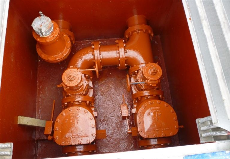 Red Lift Station Pipe System