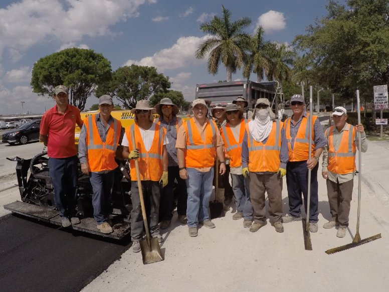 A group of GPE workers