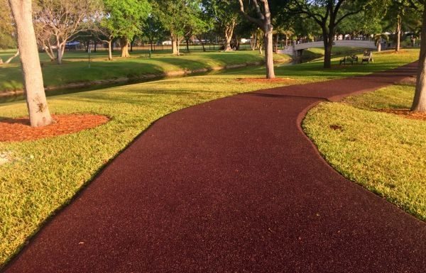 Flexipave pathway in a park